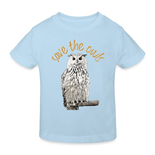 Snowy Owl Save the Owls Photo Art - Kids' Organic T-Shirt