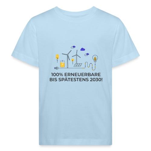 100% Erneuerbare 2030 2 - Kinder Bio-T-Shirt