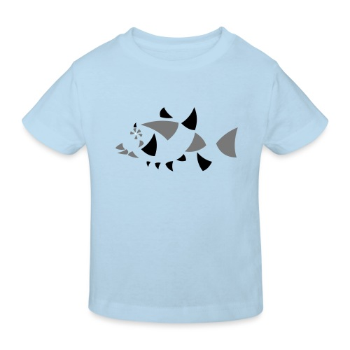 Fisch, abstrakt - Kinder Bio-T-Shirt