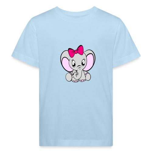 Baby meisje Olifant met grote strik - Kinderen Bio-T-shirt