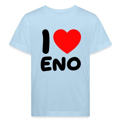 I love Eno / musta - Lasten luonnonmukainen t-paita