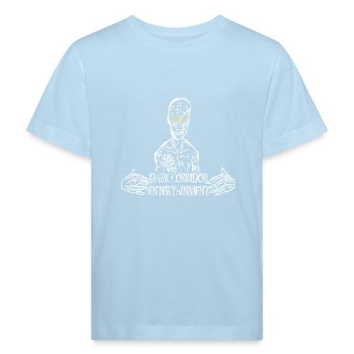 Dark Corridor Logo in Standardgröße mit Schriftzug - Kinder Bio-T-Shirt