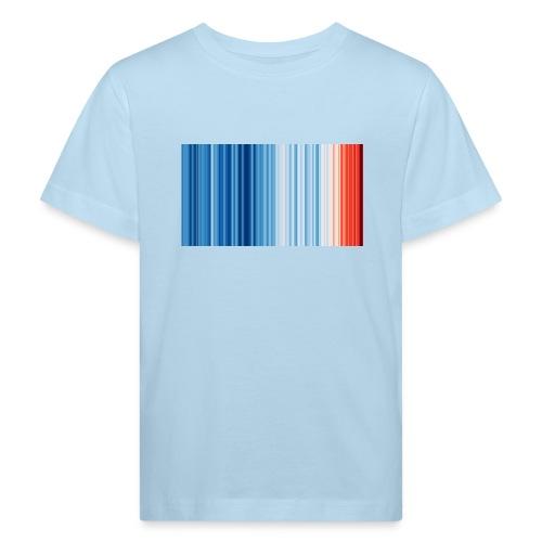 Klimawandel - Warming Stripes - Wärmestreifen - Kinder Bio-T-Shirt