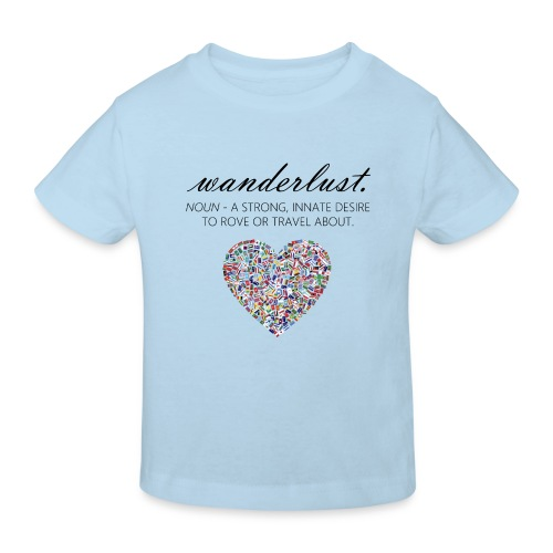 Wanderlust - I love to travel / I love travelling - Økologisk T-skjorte for barn