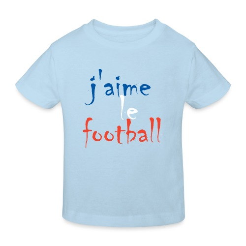 j' aime le football - Kinder Bio-T-Shirt