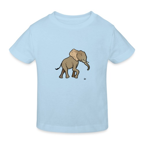 Afrikanischer Elefant - Kinder Bio-T-Shirt