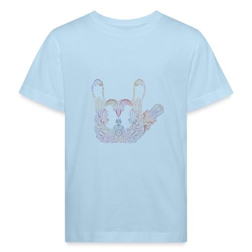 ILY Handzeichen Mandala - Kinder Bio-T-Shirt