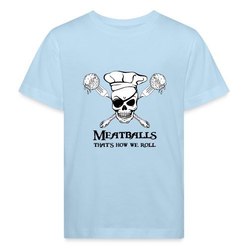 Meatballs - tinte chiare - Maglietta ecologica per bambini