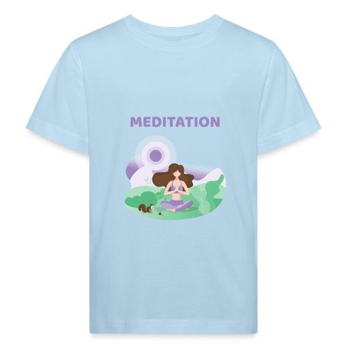Yoga Meditation - Maglietta ecologica per bambini