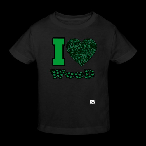 I Love weed - T-shirt bio Enfant