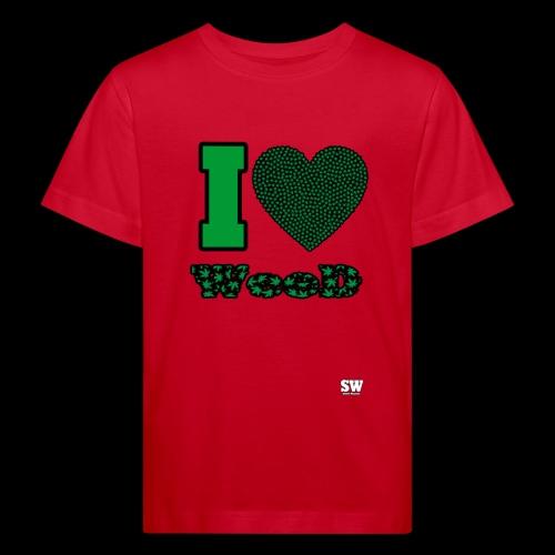 I Love weed - T-shirt bio Enfant