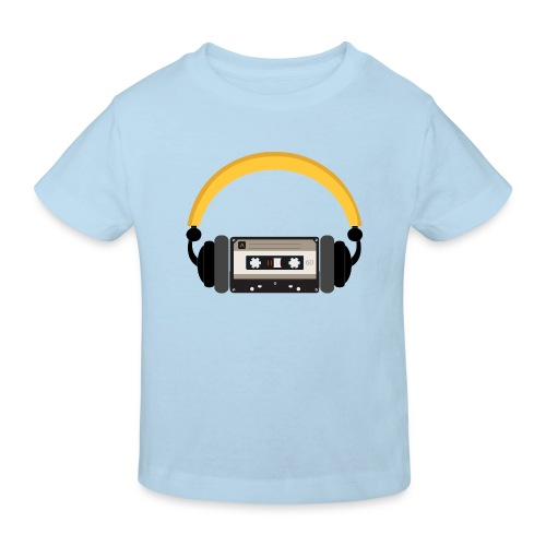 Retro cassette tape with headphone - Organic børne shirt