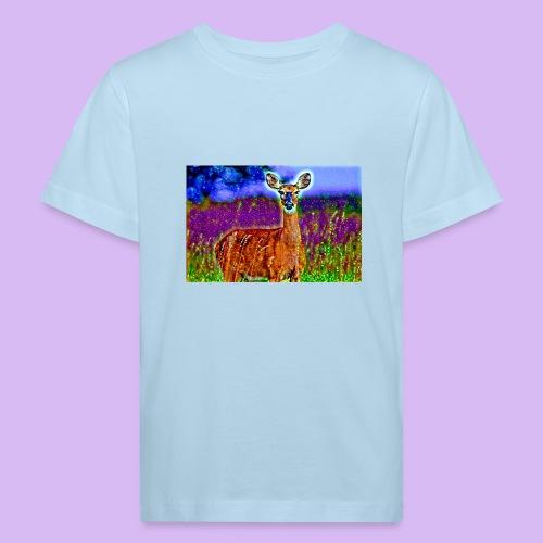 Cerbiatto con magici effetti - Maglietta ecologica per bambini