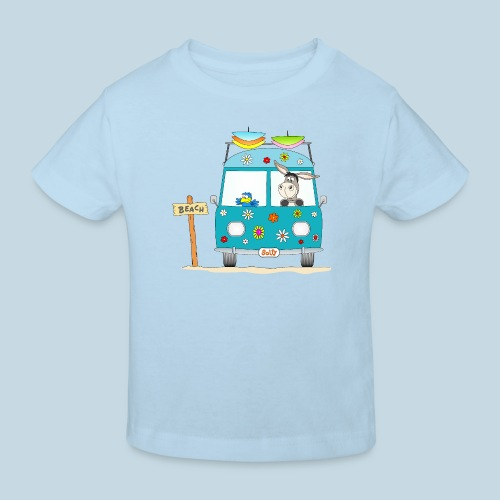 Wellenreiter Surfbus - Kinder Bio-T-Shirt
