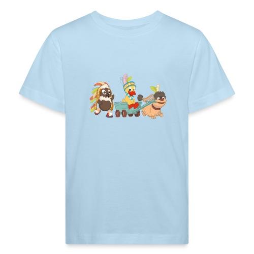 Pittiplatsch Indianerfreunde mit Schnatti & Moppi - Kinder Bio-T-Shirt