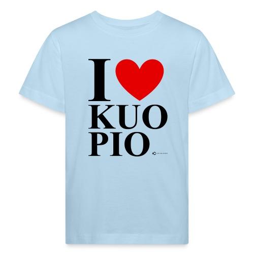I LOVE KUOPIO ORIGINAL (musta) - Lasten luonnonmukainen t-paita