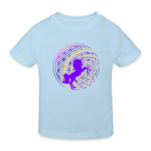 fleur de vie licorne - T-shirt bio Enfant