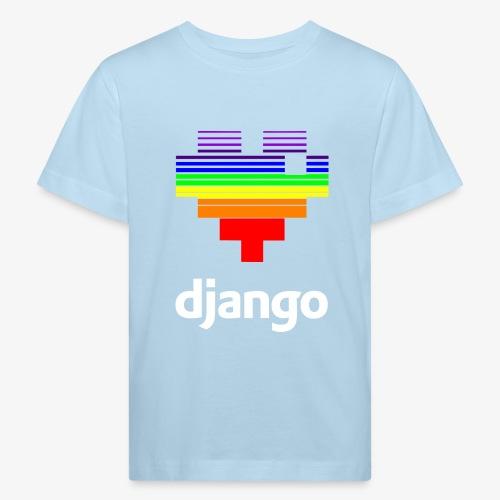 heart pride white - Kids' Organic T-Shirt