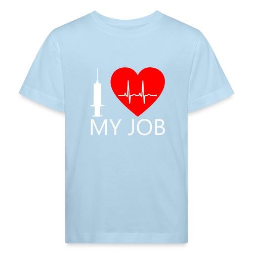 ILoveKrankenhaus3 weiss - Kinder Bio-T-Shirt