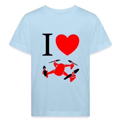 I Love Drones - Organic børne shirt