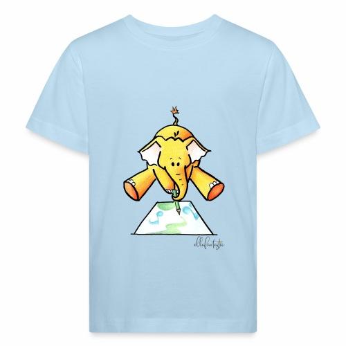 Ellafant malt Klangbild mit Stift - Kinder Bio-T-Shirt
