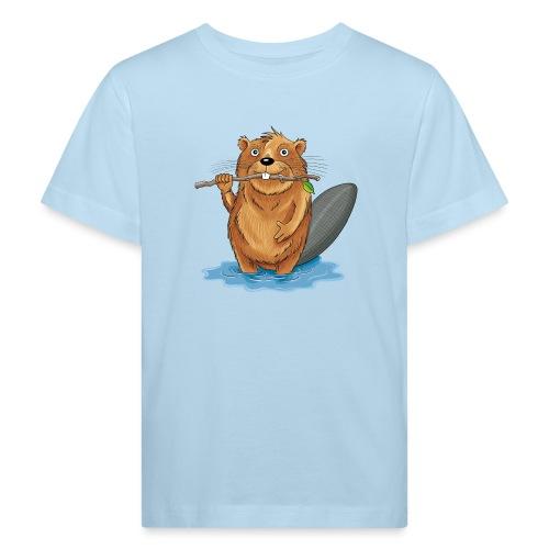 bissiger Biber - Kinder Bio-T-Shirt