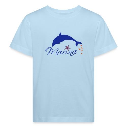 Delfin Maritim Marina - Kinder Bio-T-Shirt