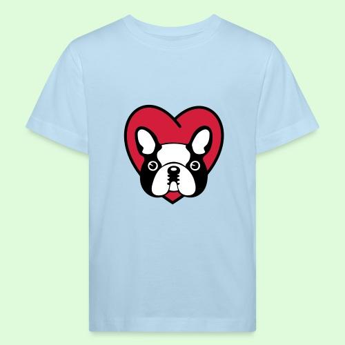Cœur de Bouledogue Français - T-shirt bio Enfant