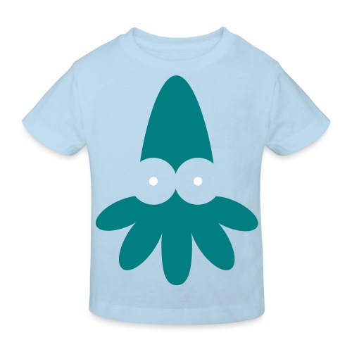 Squid Vector - choose design colours - Kids' Organic T-Shirt