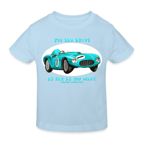 Happy Car Turquoise - Ekologisk T-shirt barn