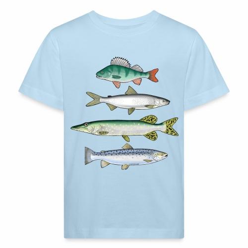 FOUR FISH - Ahven, siika, hauki ja taimen tuotteet - Lasten luonnonmukainen t-paita