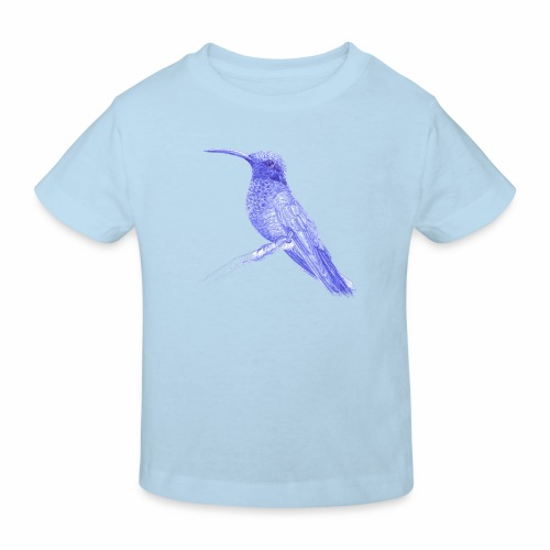 Hummingbird with ballpoint pen - Kids' Organic T-Shirt