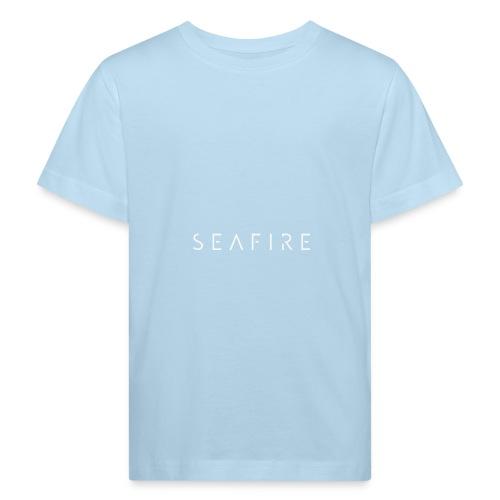 Seafire logo WHITE - Kinderen Bio-T-shirt