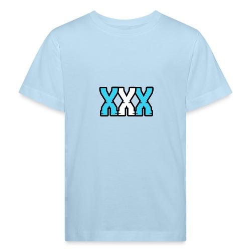 XXX (Blue + White) - Kids' Organic T-Shirt