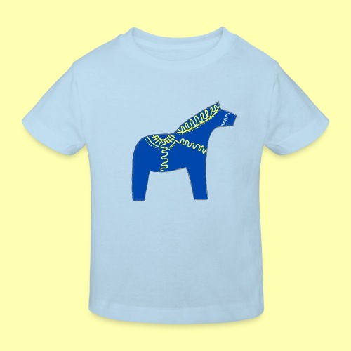 Dala by Pinni Art® blue - Kinder Bio-T-Shirt