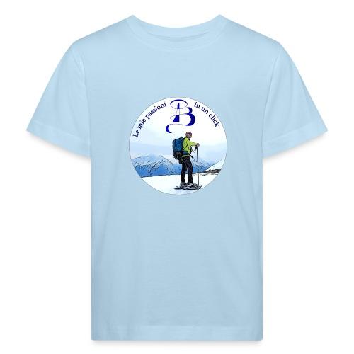 Logo cartone ciaspole - Maglietta ecologica per bambini