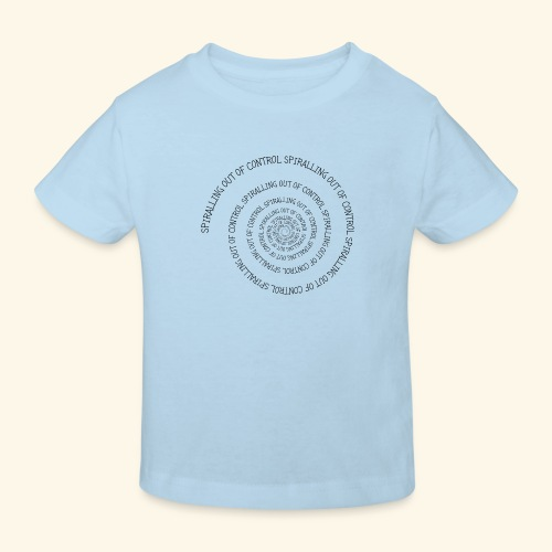 SPIRAL TEXT LOGO BLACK IMPRINT - Kids' Organic T-Shirt