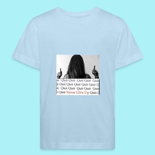 Never give up - T-shirt bio Enfant