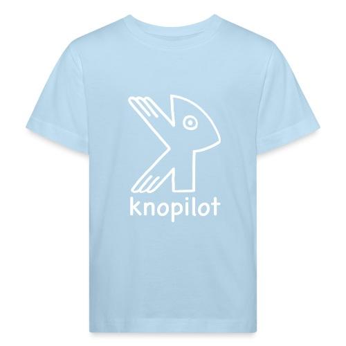 K_Vogel weiss Knopilot - Kinder Bio-T-Shirt
