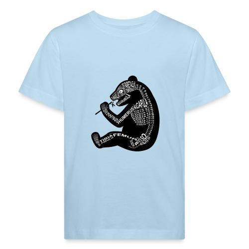 Panda skelet - Kinderen Bio-T-shirt