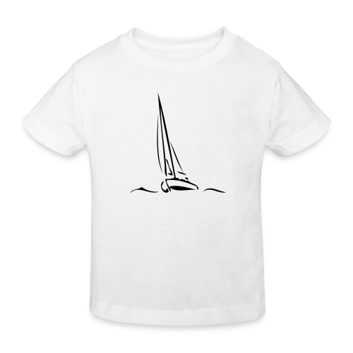 Segelboot - Kinder Bio-T-Shirt