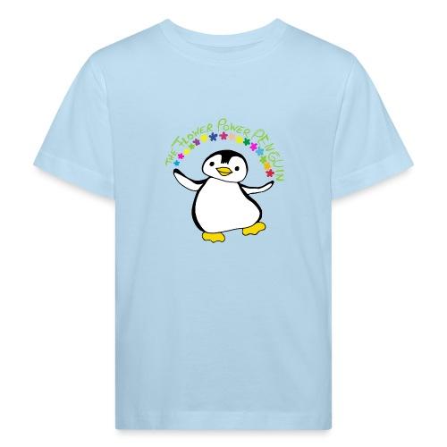 Pinguin Flower Power - Kinder Bio-T-Shirt