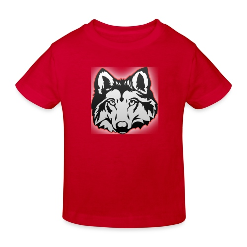 Wolfie (Red) - Kids' Organic T-Shirt