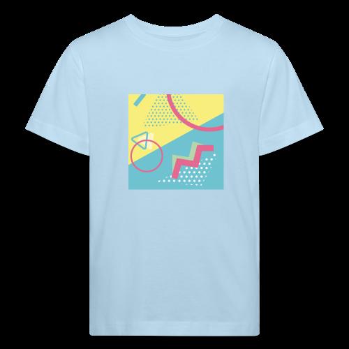 Pastel turquoise geometry - Kids' Organic T-Shirt