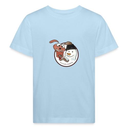 Kollin Kläff - Hund, Schneemann und Regenwurm - Kinder Bio-T-Shirt