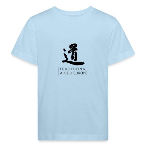 TAE logo black TRANSPARENT - Organic børne shirt