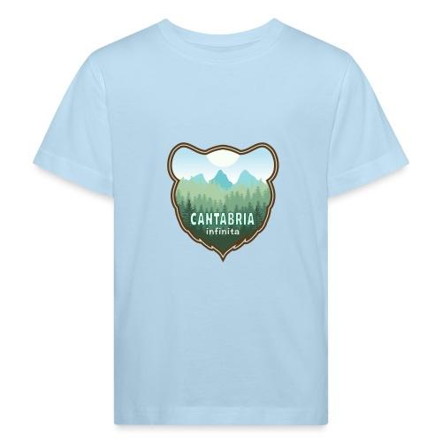 Oso en cantabria infinita - Camiseta ecológica niño