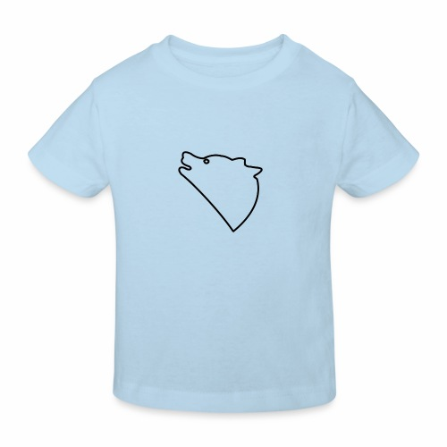 Wolf baul logo - Kinderen Bio-T-shirt