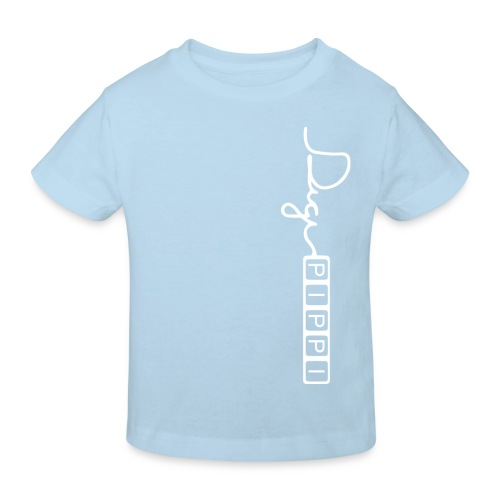 DP Logo White - Organic børne shirt
