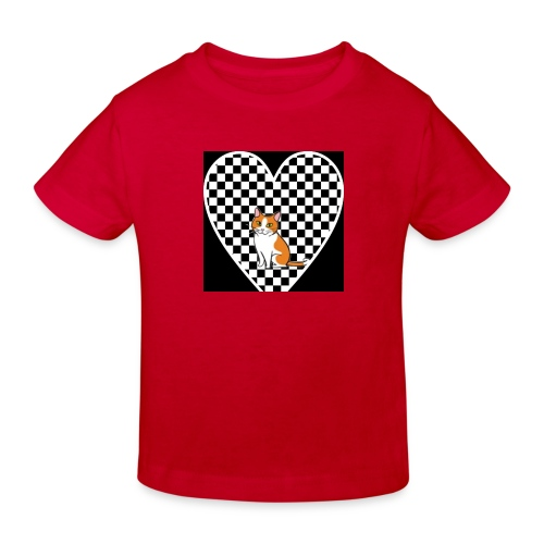 Charlie the Chess Cat - Kids' Organic T-Shirt
